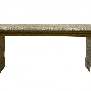 A Large Reclaimed Stone Garden Bench