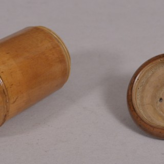 Antique Treen 19th Century Boxwood Spice or Condiment Sifter