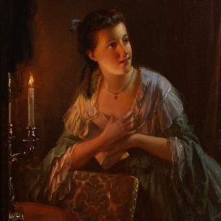 Maidens by Candlelight (A Pair)