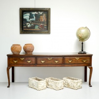 3 Drawer Oak Side Table