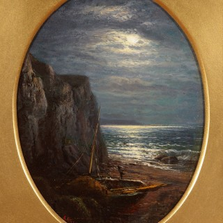 A Moonlit Cove & Tranquil Waters (A Pair)