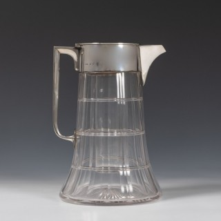 Silver Mounted Cut Glass Lemonade Jug