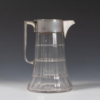 Silver Mounted Cut Glass Lemonade Jug