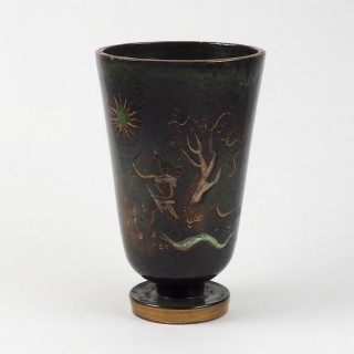 Swiss 1930s Neoclassical Large Vase of the Goddess Diana for Atelier Menelika