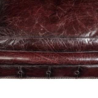 A Victorian walnut Chesterfield sofa