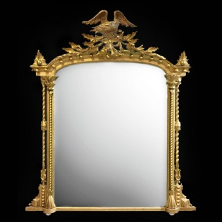 Pair of Carved Giltwood and Gesso Mirrors