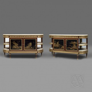 Pair of Louis XVI Style  Commodes à l'Anglaise