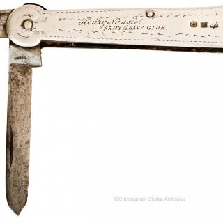 Sheffield Silver Pocket Knife Engraved Henry Nangle