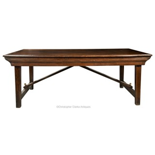 Oak Campaign Refectory or Farmhouse Table