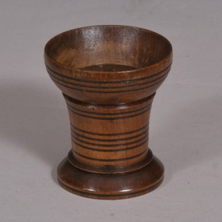 Antique Treen 19th Century Beech Pounce Pot
