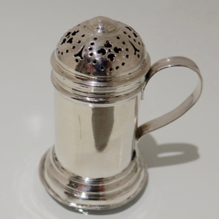 Antique George II Sterling Silver Kitchen Pepper London 1730 Thomas Rush