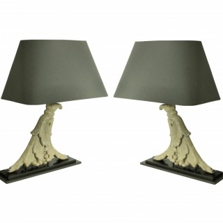 A PAIR OF ARCHITECTURAL LAMPS