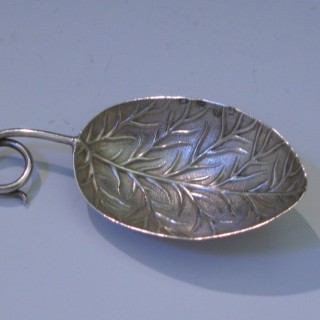 A George III Antique Sterling Silver Caddy Spoon made in 1799