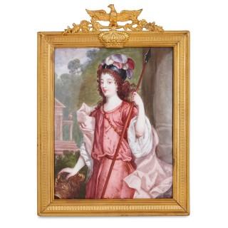 'Duchesse de Richmond' French Limoges enamel portrait plaque