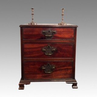 Miniature  antique Georgian mahogany chest of drawers.