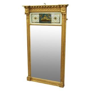 Regency Giltwood and Verre Eglomise Mirror