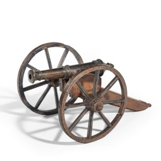 A mid-Victorian model of a field cannon