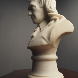White Marble Bust of a Gentleman