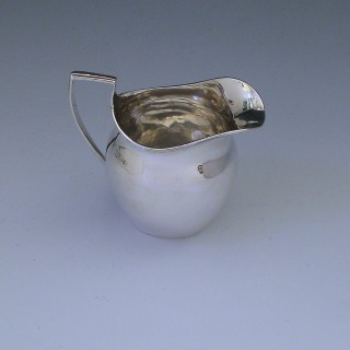 Antique Victorian Sterling Silver Cream Jug made by Nathan & Hayes of Chester in 1895