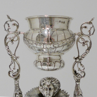 George V Scottish Silver Wager/Marriage Cup Edinburgh 1934 Import Marked Berthold Muller