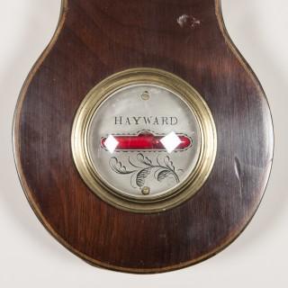 VICTORIAN MAHOGANY BAROMETER BY HAYWARD