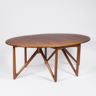 TEAK DROP LEAF TABLE BY KURT ØSTERVIG