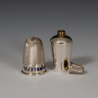 Silver Thimble Spirit Flask