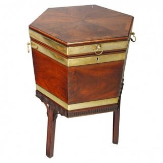 George III Inlaid Mahogany Polygon Wine Cooler