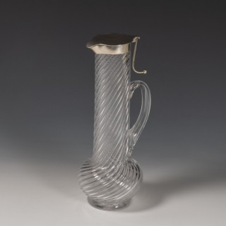 Tall Writhen Glass Decanter