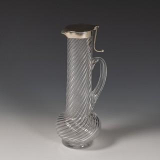 Tall Writhen Glass Decanter
