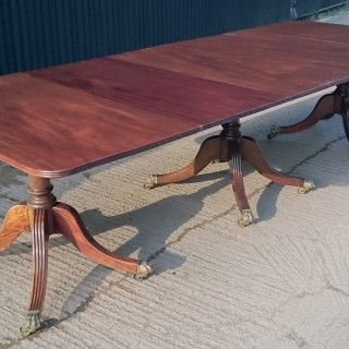 Antique Three Pedestal Dining Table