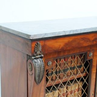 A Pair of Regency Mahogany Side Cabinets