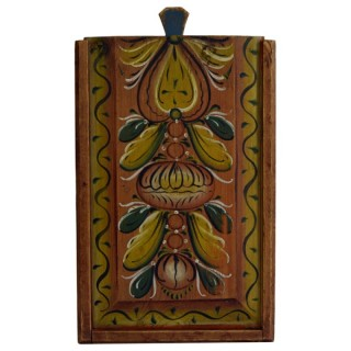 Painted candle box, Norwegian dated 1863