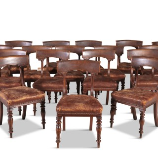A Set Of Eighteen William IV Dining Chairs