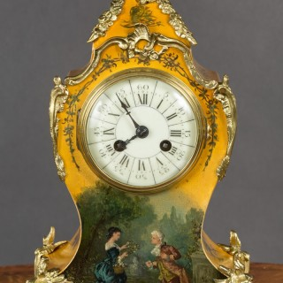 French Vernis Martin Mantel Clock