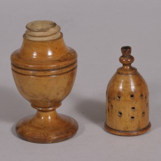 Antique Treen Early 19th Century Sycamore Muffineer
