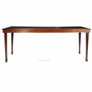 Campaign Serving Table in Mahogany