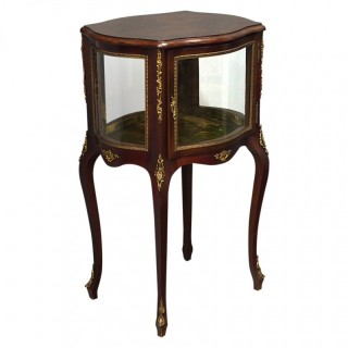 French Serpentine Vitrine / Display Cabinet