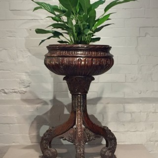 19th Century Rare Anglo-Indian Burmese Teak Jardinière.