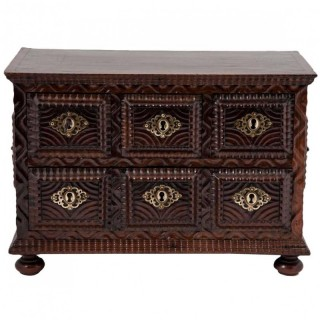 19th Century Rare Visakhapatnam  Rosewood Table Chest of Drawers