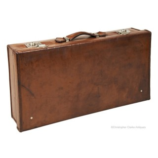 Cleghorn of Edinburgh Leather Suitcase