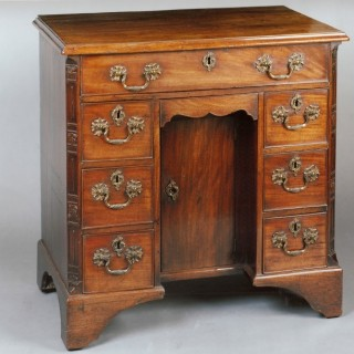 George II Period Carved Mahogany Kneehole Desk