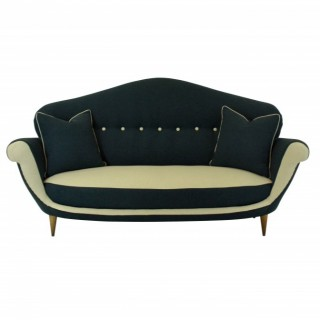 A THREE SEAT ITALIAN SOFA OF UNUSUAL DESIGN