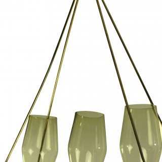 AN OBLONG 50'S PENDANT LIGHT