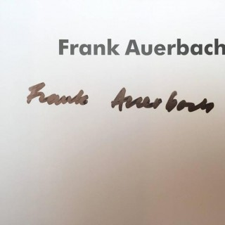 FRANK AUERBACH –WILLIAM FEAVER (SIGNED BY AUERBACH)