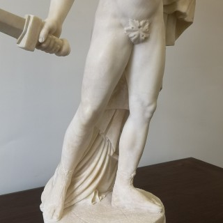 19th Century Marble Sculpture Of Perseus And Medusa