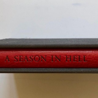 Signed Robert Mapplethorpe a Season in Hell by Arthur Rimbaud First Edition 1986
