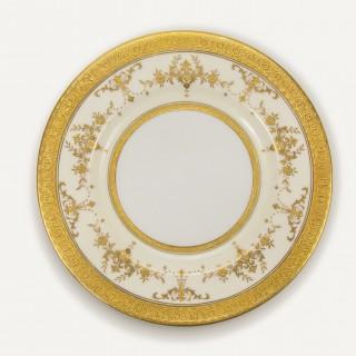 Minton Bone China and Gilt Riverton Dinner Service 105 pieces