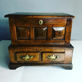 Small Oak Coffer Bach 18th Century