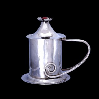 A Charles Ashbee for the Guild of Handicraft silver mustard